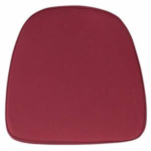 Flash Furniture Soft Chiavari Fabric Seat Cushion in Burgundy