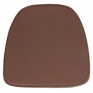Flash Furniture Soft Chiavari Fabric Seat Cushion in Brown