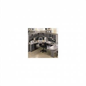 BBF Bush Business Furniture Series A Office Cubicle in Pewter