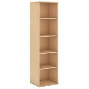 BBF 66H 5 Shelf Narrow Bookcase in Natural Maple - Engineered Wood