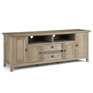 Simpli Home Amherst 72 TV Stand in Distressed Gray