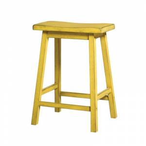 ACME Furniture Gaucho 24 Counter Stool in Antique Yellow (Set of 2)