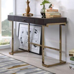 ACME Furniture ACME Boice Home Office Desk in Espresso PU and Champagne