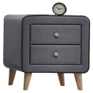ACME Furniture ACME Valda 2 Drawer Nightstand in Light Gray