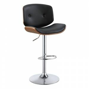 ACME Furniture ACME Camila Adjustable Bar Stool in Black and Walnut