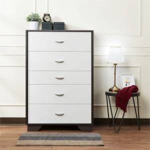 ACME Furniture ACME Eloy 5 Drawer Chest in White and Espresso