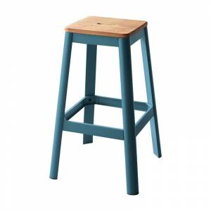 ACME Furniture ACME Jacotte Bar Stool in Natural and Teal