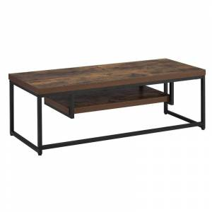 ACME Furniture ACME Bob TV Stand in Weathered Oak and Black