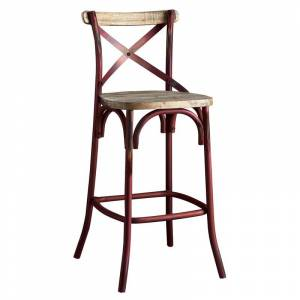 ACME Furniture ACME Zaire Bar Stool in Antique Red