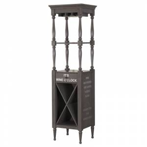 ACME Furniture ACME Anthony Wine Cabinet in Antique Gray