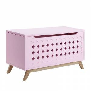 ACME Furniture Acme Doll Cottage Youth Chest in Pink and Natural