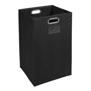 Niche Collapsible Storage Fabric Laundry Bin in Black Finish