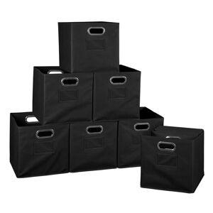 Niche Cubo Set of 12 Foldable Fabric Storage Bins- Black