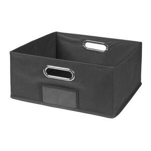 Niche Cubo Half in Size Collapsible Fabric Storage Bin in Grey