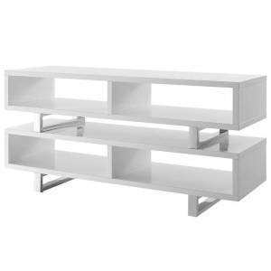 Modway Amble 47 2 Tier Wooden TV Stand in White
