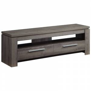 Bowery Hill 59 TV Stand in Weathered Gray