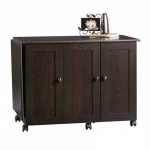 Bowery Hill Craft and Mobile Sewing Cart in Cinnamon Cherry