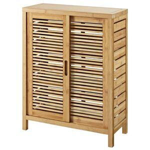 Pemberly Row 2 Door Linen Cabinet in Natural