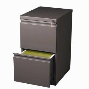 Scranton & Co 2 Drawer Mobile File Cabinet in Med Tone