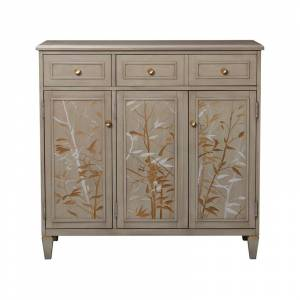 Taylor Jennifer Taylor Home Dauphin Handpainted Entryway Storage Cabinet Grey Cashmere