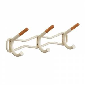 Safco Products 4255CRM Family Coat Wall Rack - 3 Hook