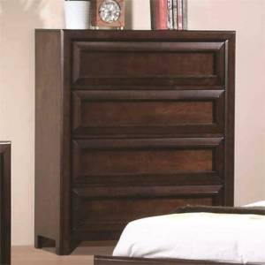 Coaster Greenough 4 Drawer Chest in Maple Oak