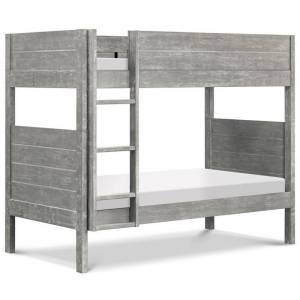 DaVinci Fairway Twin Over Twin Wood Bunk Bed in Cottage Gray