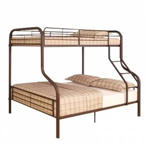 ACME Furniture Cairo Twin over Full Bunk Bed in Sandy Black