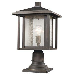 Z Lite Z-Lite Aspen Outdoor Post Lantern in Clear and Oil Rubbed Bronze