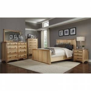 A-America Adamstown 6 Piece King Bedroom Set in Natural