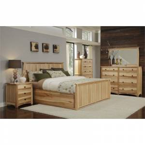 A-America Adamstown 6 Piece King Storage Bedroom Set in Natural