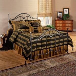 Bowery Hill Queen Metal Spindle Bed in Bronze