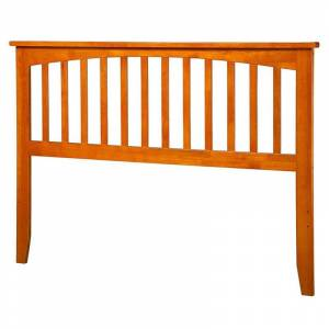 Leo & Lacey King Spindle Headboard in Caramel Latte
