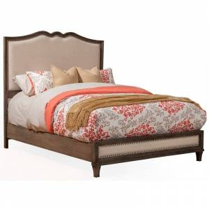 Alpine Furniture Charleston Standard King Panel Bed in Antique Gray