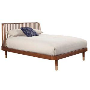 Alpine Furniture Belham Full Wood Platform Bed in Dark Walnut (Brown)