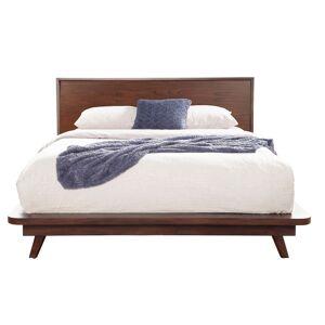 Alpine Furniture Gramercy Full Size Wood Platform Bed in Walnut