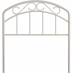 Hillsdale Metal Hillsdale Furniture Jolie Twin Headboard with Arched Scroll White
