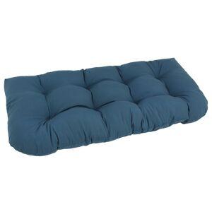Blazing Needles U Shaped 19 x 42 Tufted Settee Cushion-Royal Blue