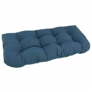 Blazing Needles U Shaped 19 x 42 Tufted Settee Cushion-Indigo
