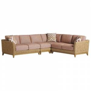 Tommy Bahama Home Tommy Bahama Los Altos Valley View Sectional in Aged Patina