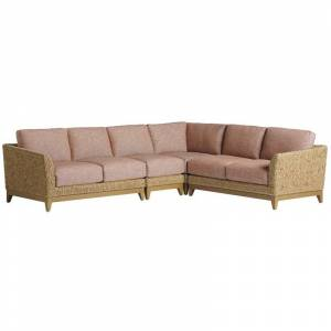 Tommy Bahama Home Tommy Bahama Los Altos Valley View Sectional in Aged Patina/Plain Cushions