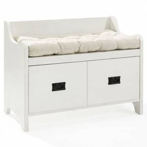 Crosley Furniture Crosley Fremont Storage Entryway Bench in Distressed White