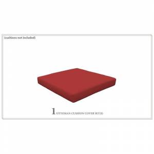 TK Classics Cover for Ottoman Cushions 4 Thick in Terracotta