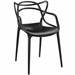 Modway Entangled Dining Arm Chair in Black