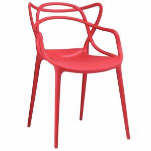 Modway Entangled Dining Arm Chair in Red