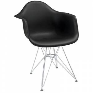Modway Paris Dining Arm Chair in Black