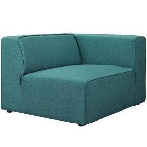 Modway Mingle Fabric Right Facing Accent Chair in Teal
