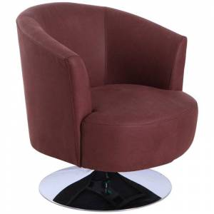 Relax-R Tustin Fabric Leisure Accent Chair in Cocoa