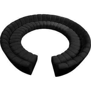 Meridian Furniture Infinity Black Velvet 12pc. Modular Sectional