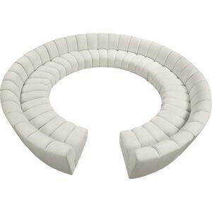 Meridian Furniture Infinity Cream Velvet 12pc. Modular Sectional